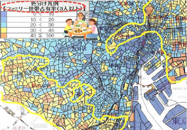 ②自社のターゲティング情報を網羅した地図
